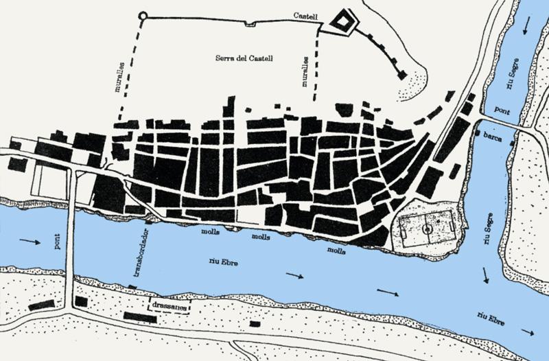Mapa del poble de Mequinensa fet pel propi Jesús Moncada